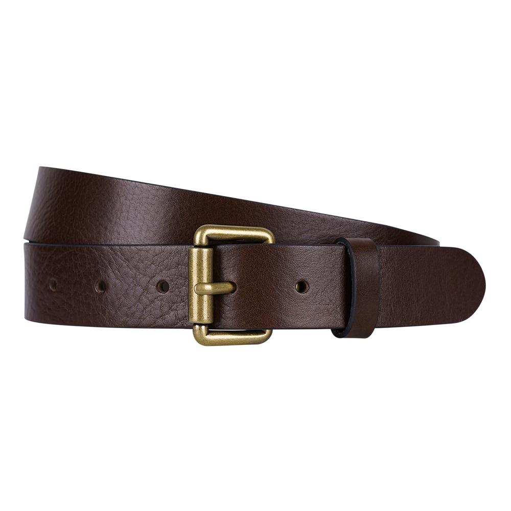 BROWN ITALIAN FULL GRAIN LEATHER BELTVictor&Albert(빅터앤알버트)7/12까지 10%할인